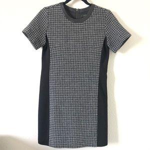 J. Crew Mixed Gray Black Houndstooth Dress Size 2P
